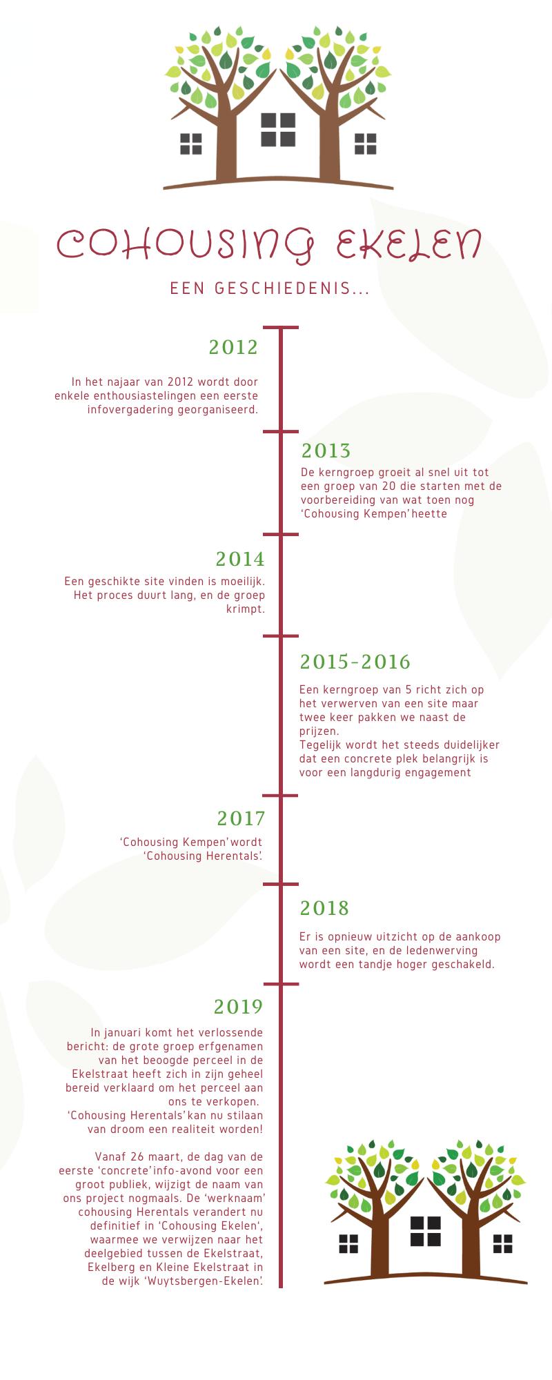 Infografic geschiedenis